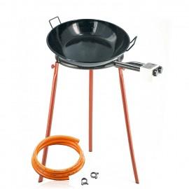 Set à friture - Poêle émaillée creuse 50 cm