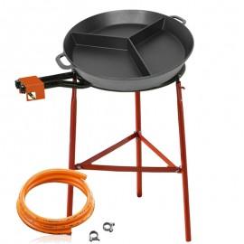 Kit de cuisson avec deux séparations - Poêle en fonte 50 cm