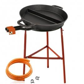 Kit de cuisson - Poêle en fonte 65 cm avec une séparation