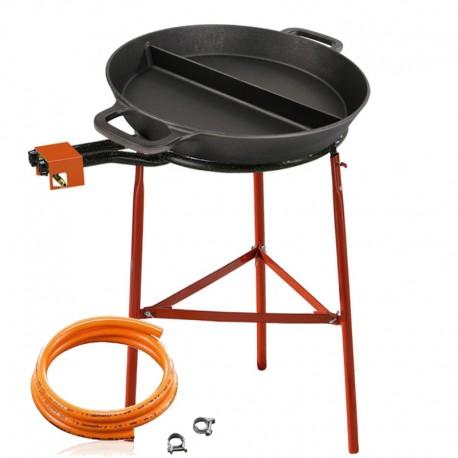 Set de cuisson - Poêle en fonte 65 cm avec une séparation