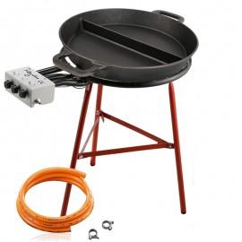 Set de cuisson - Poêle en fonte 80 cm avec une séparation