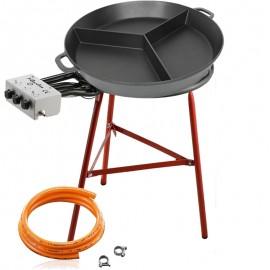 Set de cuisson avec deux séparations - Poêle en fonte 80 cm
