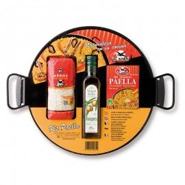 Kit pour Paella avec Poêle émaillée 4 personnes