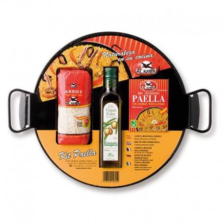 Kit pour Paella avec Poêle en acier poli