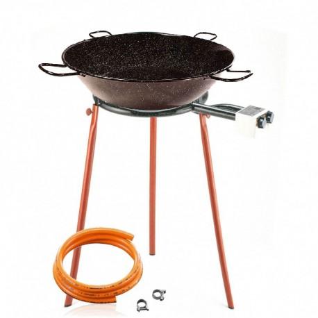 Kit à friture 45 litres - Poêle émaillée creuse 65 cm