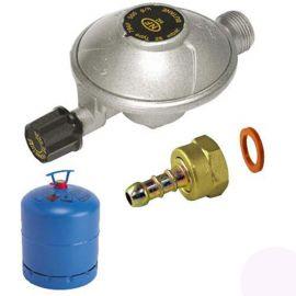 TYPE 794F DETENDEUR CAMPING NF GAZ 500G/H 28MB entrée m16x150-sortie m20x150+raccord tétine