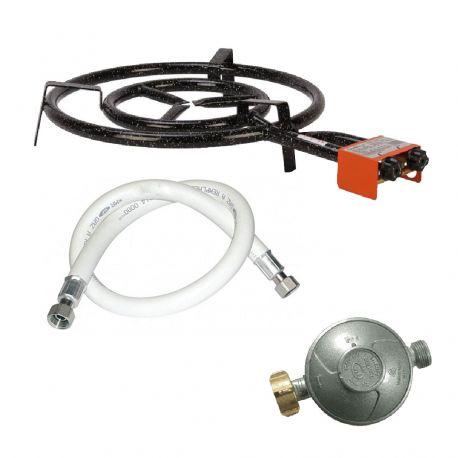 bruleur gaz propane et butane 2 anneaux diam tre 500mm avec tuyau de gaz et d tendeur. Black Bedroom Furniture Sets. Home Design Ideas
