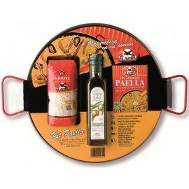 Kit pour Paella avec Poêle en acier poli 4 personnes