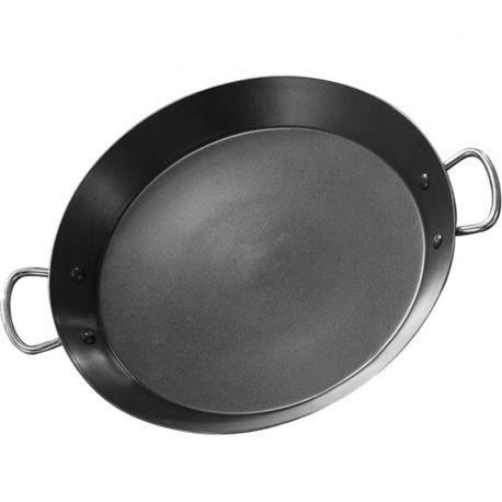 Poêle à paella Induction en inox anti-adhésive 46cm Garcima pour 12 personnes
