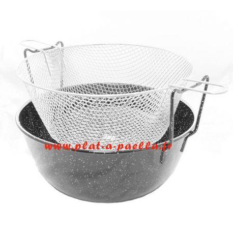 Kit à friture émaillé 35cm - Garcima