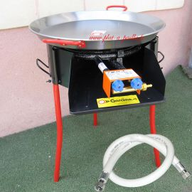 Kit à paella -bbq50 pour 17 personnes - Plat acier
