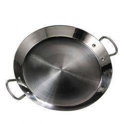 Plat à Paella inox 46cm spécial induction pour 12 personnes