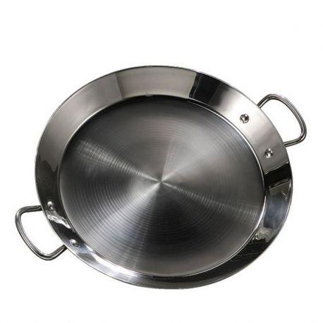 Plat à Paella inox 50cm spécial induction pour 15 personnes