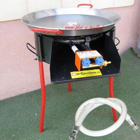 Kit à paella -bbq50 pour 20 personnes - Plat Inox