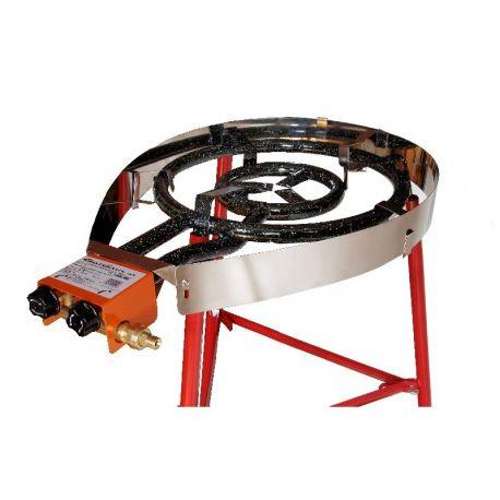 Pare-flammes inoxydable pour rechaud diamètre 600mm