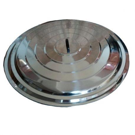 Couvercle 80cm en acier inoxydable pour poêles géantes