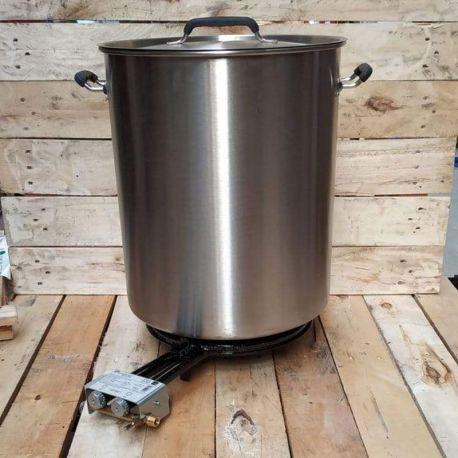 Kit de brassage inox 60 litres - Gaz naturel 14.5kw