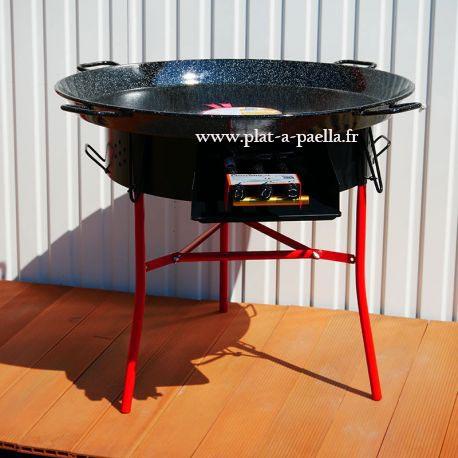 Kit à paella -bbq70 pour 50 personnes - Plat émaillé