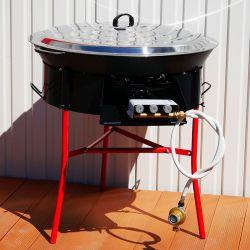 Kit à paella -bbq70 - Plat fonte 80cm - rechaud pro