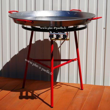 Kit à paella pour 50 personnes - Poêle acier brûleur classique