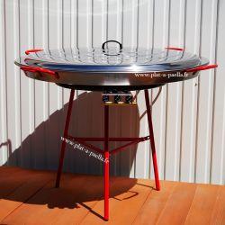 Kit à paella pour 120 personnes - Poêle acier 115 cm avec couvercle