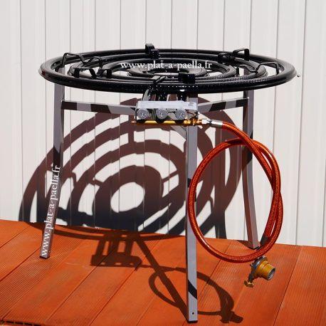 Bruleur Propane surpuissant 90cm haut de gamme avec thermocouple +veilleuse + trépied - 41.57kW