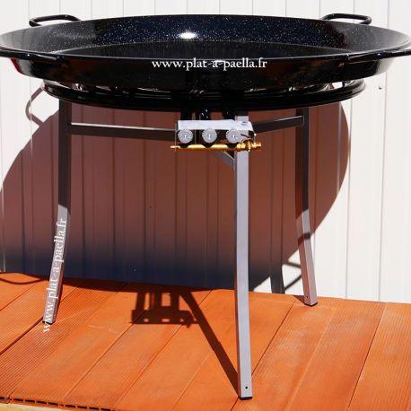 Kit à paella Pro pour 120 personnes - poêle émaillée 115cm
