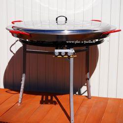 Kit à paella Pro pour 85 personnes - poêle acier 100cm