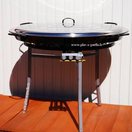 Kit à paella Pro pour 85 personnes - poêle émaillée 100cm