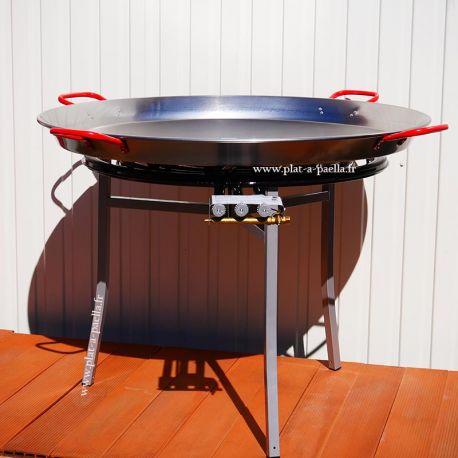 Kit à paella Pro pour 50 personnes - poêle acier 90cm