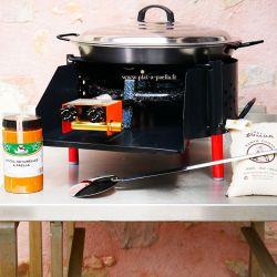 Kit à paella -bb50 20 personnes - Plat acier Pata Negra- Couvercle - Thermocouple