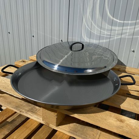 Plat à Paella 42cm Induction Garcima Pata Negra + couvercle inox