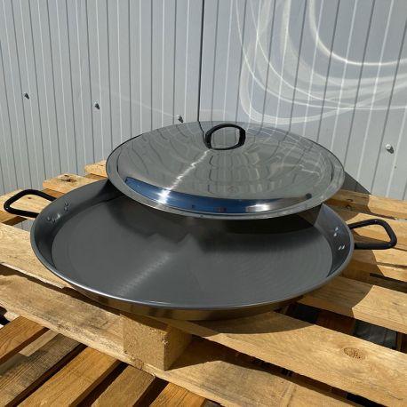 Plat à Paella 38cm Induction Garcima Pata Negra + couvercle inox