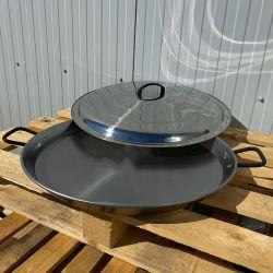 Plat à Paella 34cm Induction Garcima Pata Negra + couvercle inox